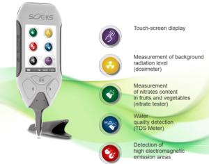 Soeks Ecovisor F4 food tester and EMF